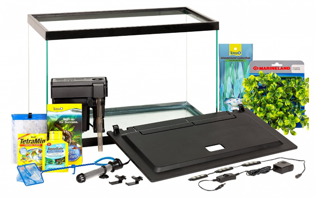 20 gallon turtle tank set with filter